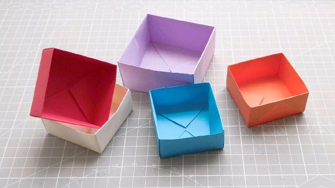 纸盒子的折法视频教程