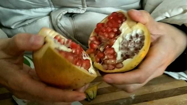 切石榴吃啦石榴是从黄海小区北区社区团购的