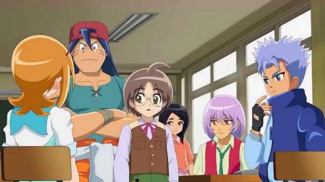 火力少年王:蓝色短发妹被大家称为悠悠女超人